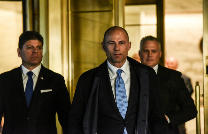 Michael Avenatti exits a New York court after being arrested