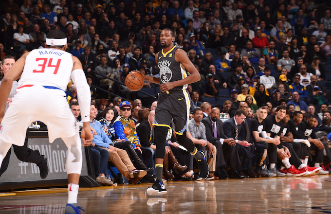 Kevin Durant against the L.A. Clippers.