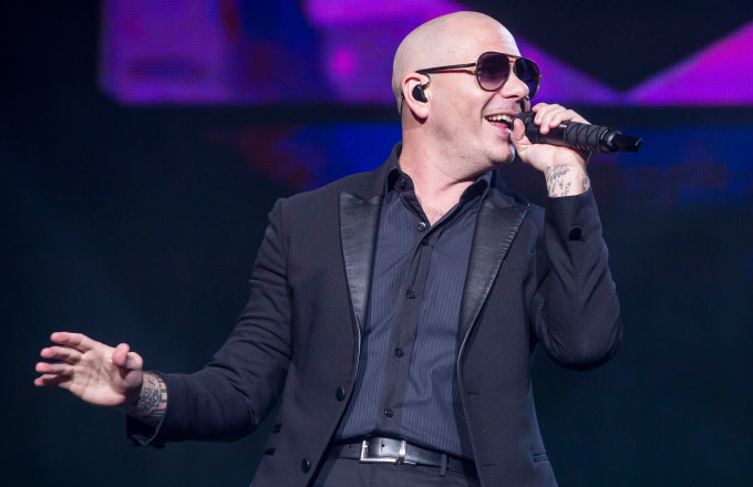 Pitbull performs during The Bad Man Tour 2016 at DTE Energy Music Theater