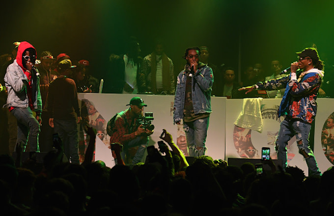 Migos perform onstage at Puma & Hot 107.9 presents Migos 'Culture' Album Release