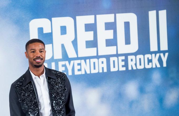 Michael B. Jordan at Creed II Premiere in Spain