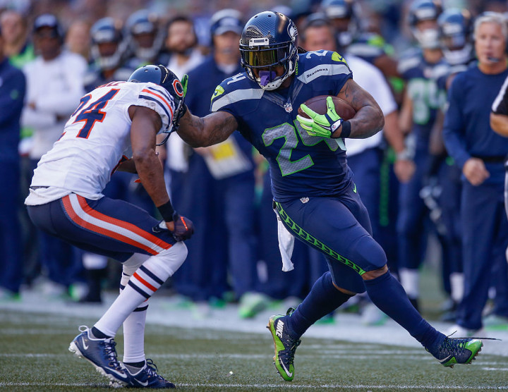 Marshawn Lynch Seahawks Bears 2015 Getty