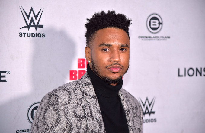 "Trey Songz attends the ""Blood Brother"" New York Screening at Regal Battery Park 11"