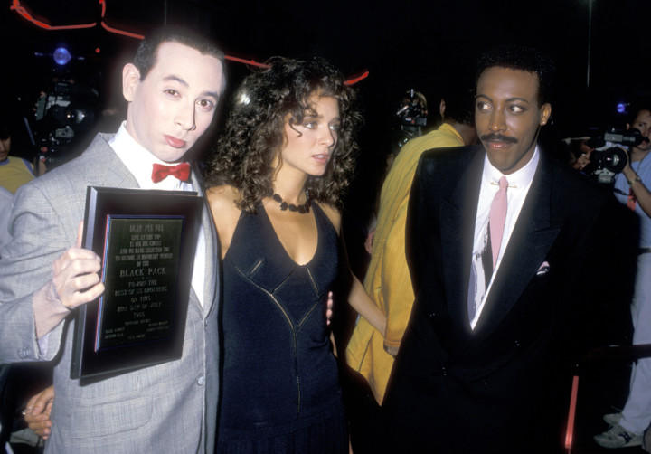 Paul Reubens, Valeria Golino, and Arsenio Hall attend the Big Top Pee-wee Hollywood Premiere