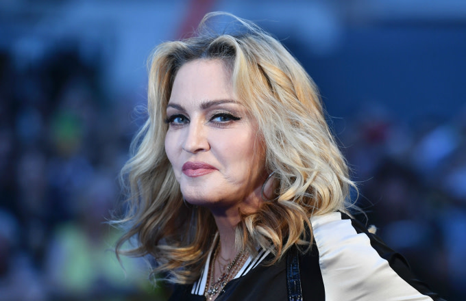 Madonna poses arriving on the carpet