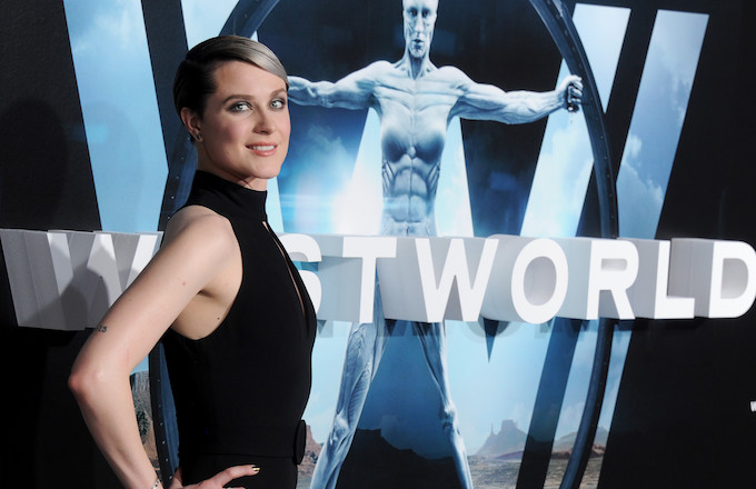 Evan Rachel Wood at a 'Westworld' premiere.
