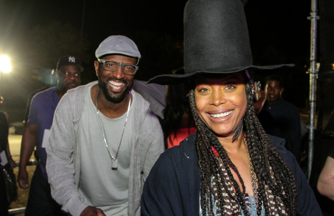 Rickey Smiley and Erykah Badu