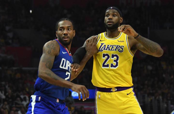 Kawhi Leonard LeBron James Lakers Clippers Oct 2019