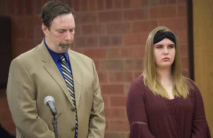 Brianna Brochu in court.
