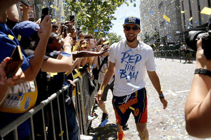 Steph Curry 2018 Parade Oakland