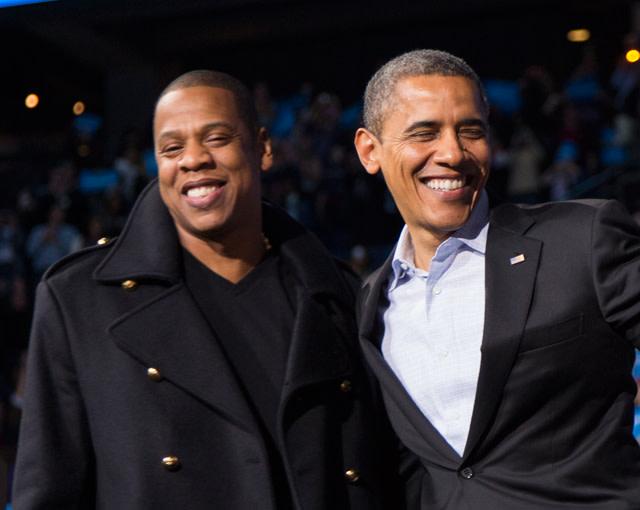 Jay Z and Barack Obama