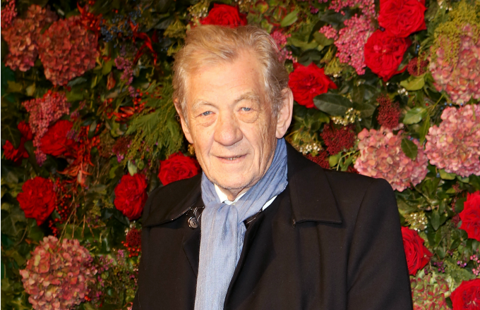 Sir Ian McKellen arrives at The 64th Evening Standard Theatre Awards