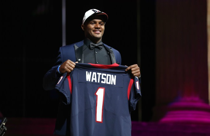 Deshaun Watson is drafted by the Texans in the first round of the 2017 NFL Draft.