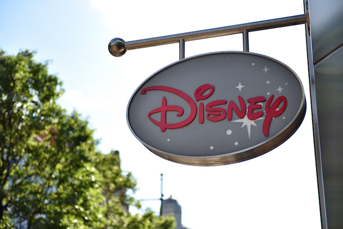Disney sign in London