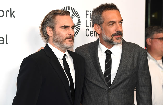 Joaquin Phoenix with 'Joker' director Todd Phillips