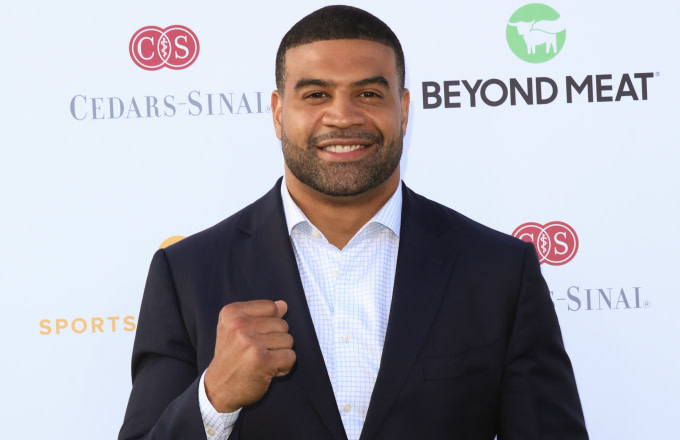 Shawne Merriman attends the 34th Annual Cedars-Sinai Sports Spectacular celebration