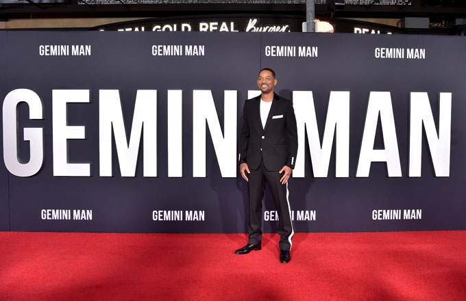 Will Smith at the premiere of his film 'Gemini Man'