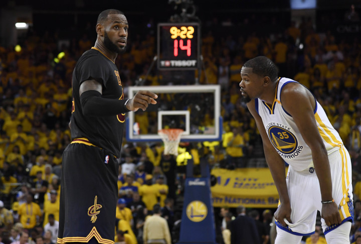 free shipping acb04 cbe05 LeBron James Kevin Durant Game 2 NBA Finals 2017