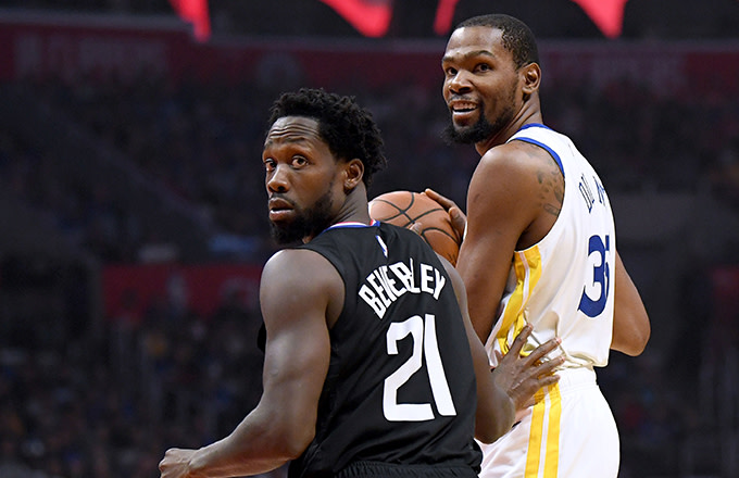 Kevin Durant and Patrick Beverley