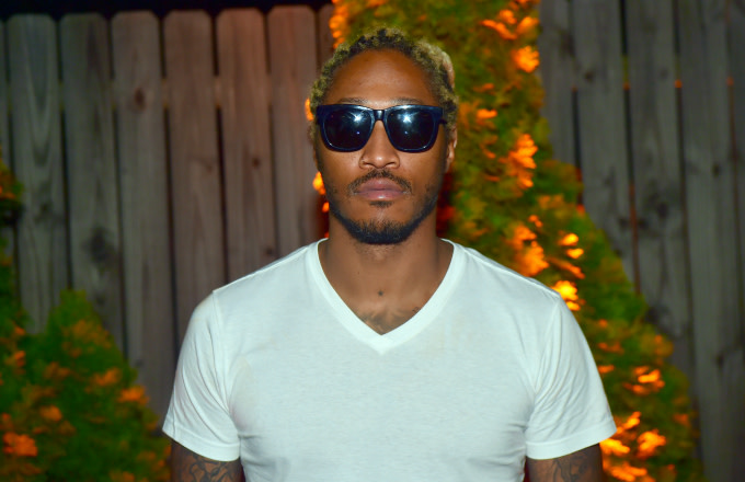 Rapper Future backstage at Meek Mill & Future in Concert