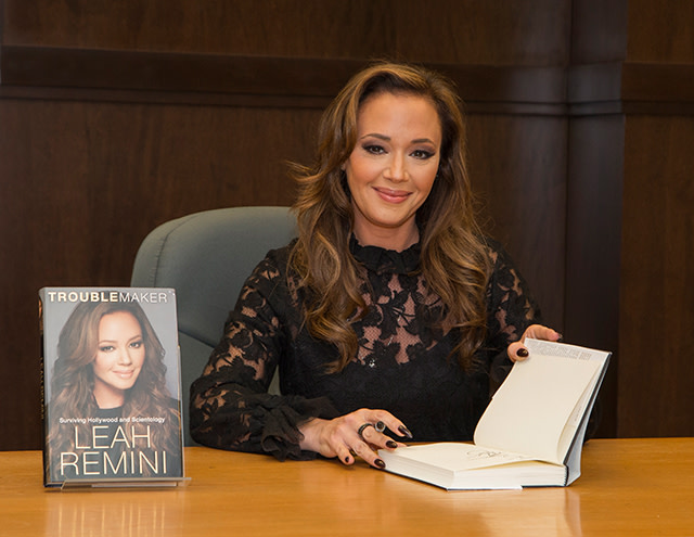 Leah Remini signs copies of her new book 'Troublemaker: Surviving Hollywood and Scientology'