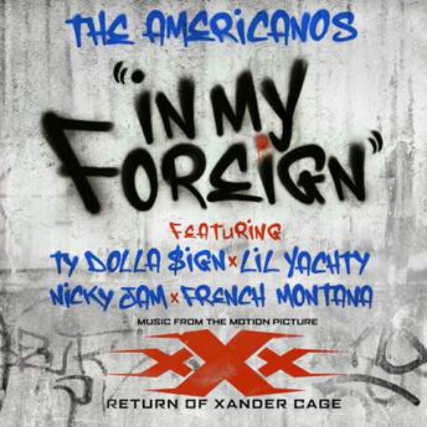 """This is The Americanos single art for """"In My Foreign."""""""