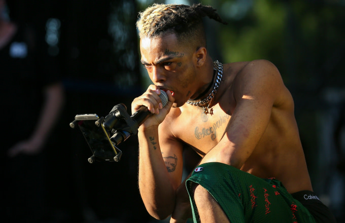 XXXTentacion performs during the second day of the Rolling Loud Festival