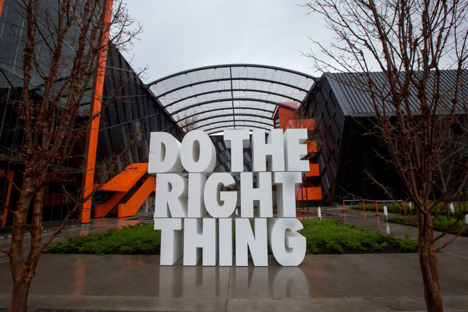 Nike headquarters on in Beaverton, Oregon