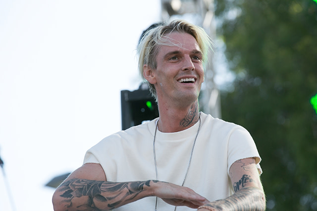 Aaron Carter at LA Pride Music Festival And Parade 2017