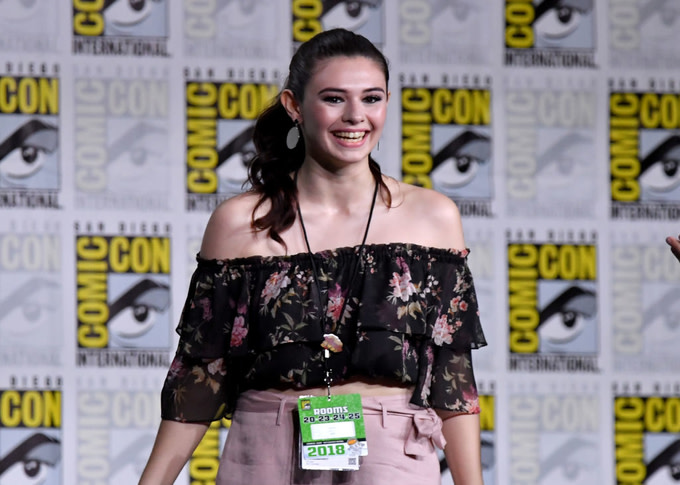 Nicole Maines the 'Supergirl' Special Video Presentation and Q&A during Comic-Con