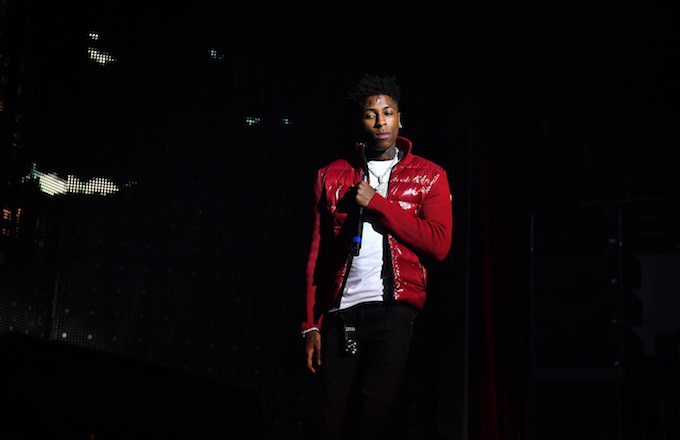 NBA YoungBoy performs onstage during Lil Baby & Friends concert.
