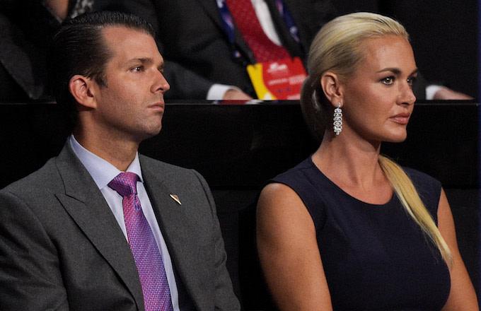 Donald Trump Jr. along with his wife Vanessa Trump.