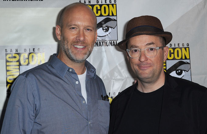 Avengers writers Stephen McFeely and Christopher Markus.