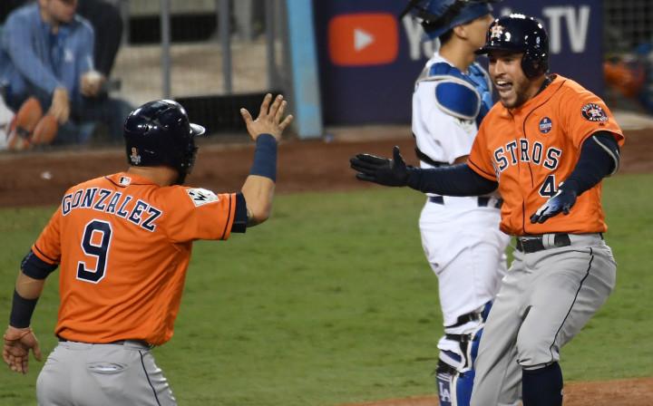George Springer Game 7 Home Run World Series 2017