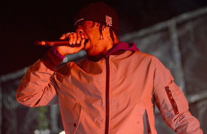 Travis Scott performs live during the Birds Eye View tour