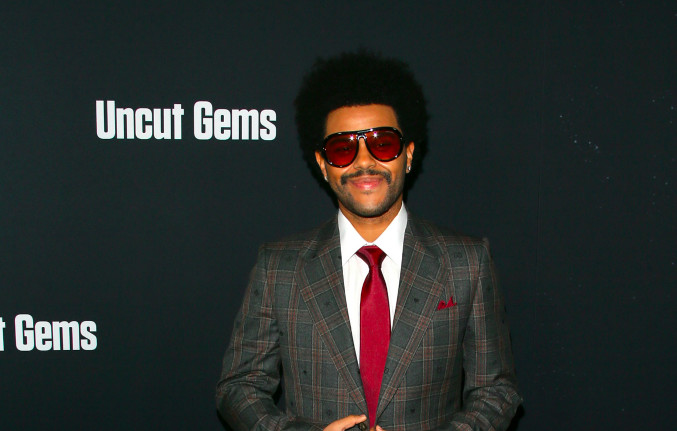 """The Weeknd at the premiere of A24's """"Uncut Gems"""""""