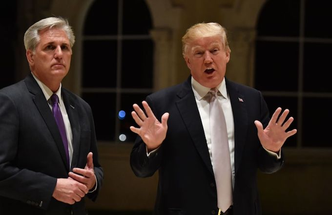 This is a picture of Donald Trump and Kevin McCarthy.