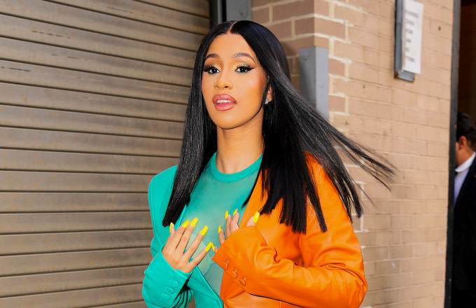 Cardi B at Vogue event on October 10, 2019