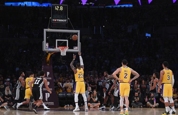 LeBron James free throws
