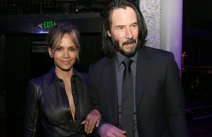 Halle Berry and Keanu Reeves