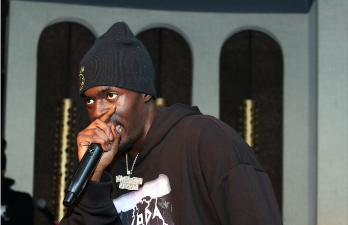 Sheck Wes performs at LiveXLive Post Grammy Party