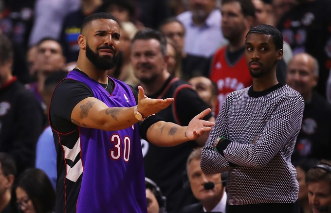size 40 5c709 12efa Here's How Drake Got That Dell Curry Raptors Jersey for Game ...