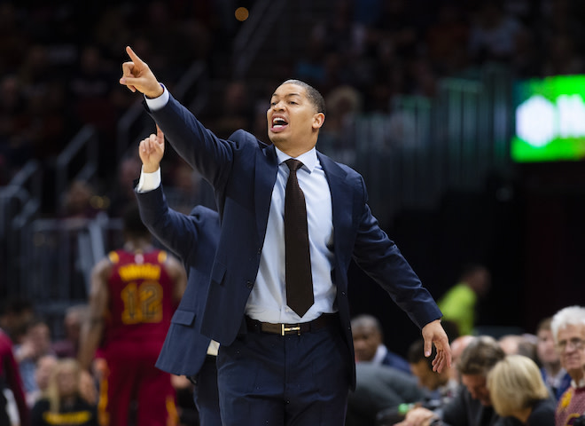 Ty Lue with the Cavaliers.