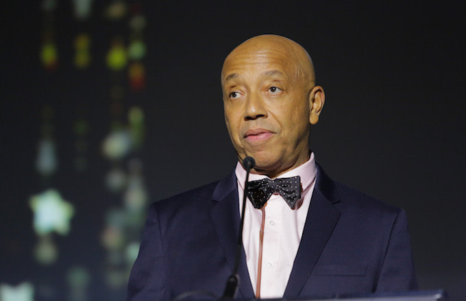 Music producer Russell Simmons speaks onstage at the 2017 Make a Wish Gala.