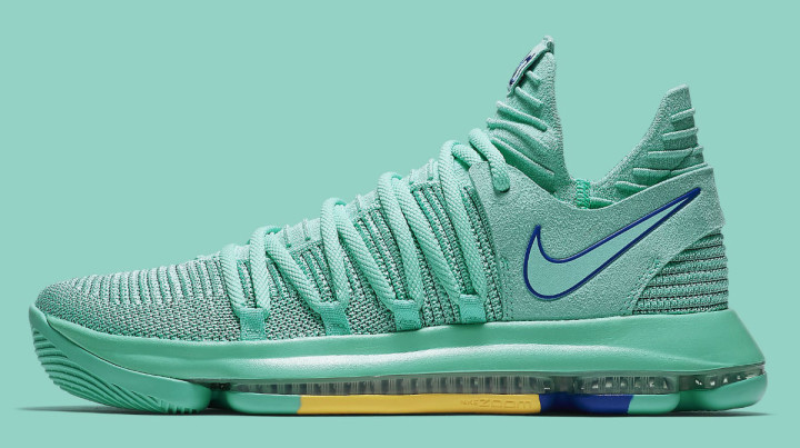 the latest c472a d0fc3 Nike KD 10 X City Edition Hyper Turquoise Racer Blue Release Date  897816-300 Profile
