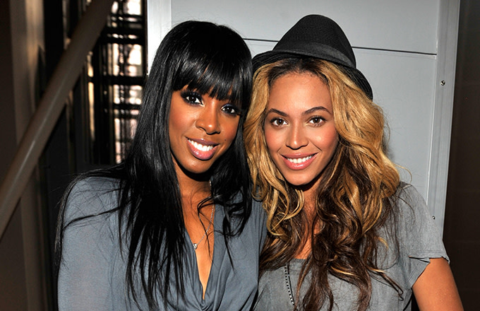 Kelly Rowland and Beyoncé
