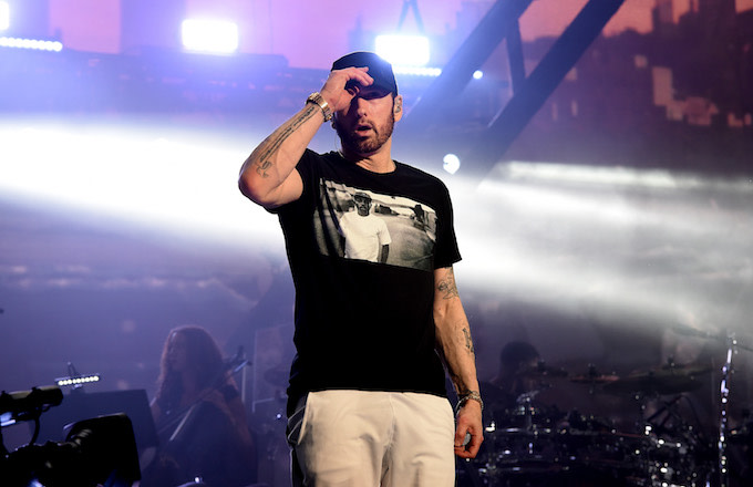 Eminem performs at Coachella.