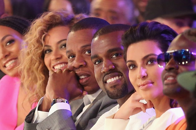 Beyoncé, Jay Z, Kanye West, and Kim Kardashian