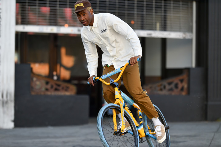 Tyler The Creator Biking In Los Angeles
