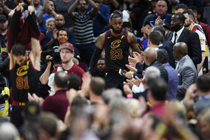 LeBron James Game 4 NBA Finals 2018 Exit